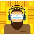 virtual reality glasses flat vector image