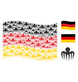 waving germany flag mosaic of spectre octopus vector image