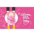 Welcome little baby girl vector image
