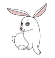 White funny rabbit looking at camera vector image vector image