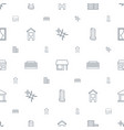 window icons pattern seamless white background vector image vector image