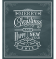 year vintage label frame chalk board vector image vector image