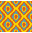 yellow Seamless Camouflage Ogee in Ikat Weave vector image