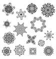 set of abstract design with arabesques vector image