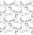 Seamless pattern with stylized funny rabbits vector image