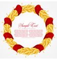 Laurel Wreath with ribbons vector image