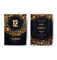12th years birthday black paper luxury