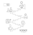 Abstract science icons Science concept vector image vector image
