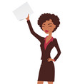 afro american businesswoman in a flat art style