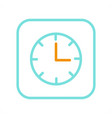 alarm clock icon isolated on bright background vector image vector image