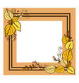 autumn frame consisting of two lines leaves vector image vector image