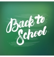 Back to school hand written lettering on green