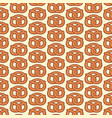 background pattern with pretzel vector image vector image