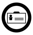 badge the black color icon in circle or round vector image vector image