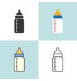 bamilk bottle in various design vector image