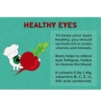 Benefits of beet for healthy eyes vector image vector image