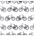 bicycle seamless pattern wallpaper background vector image vector image