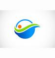 bio organic water logo vector image vector image