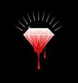 blood diamond vector image