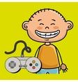boy control game icon vector image vector image
