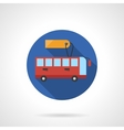 Bus for rent round flat color icon vector image