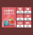 carpet dry cleaning flat vector image vector image