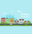 city landscape urban skyline vector image