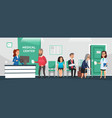 clinic reception hospital patients doctor vector image