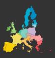 colorful map european union eu member states vector image vector image
