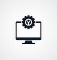 computer desktop repair setting vector image vector image