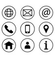 contact us icon set line art style