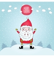 Cute cartoon Santa Claus and winter nature vector image vector image