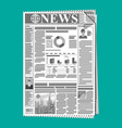daily newspaper in black and white vector image vector image