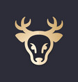 deer head logo element vector image