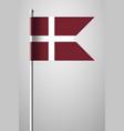 denmark orlogsflaget variant flag national flag vector image vector image
