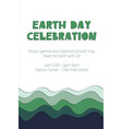 earth day celebration - poster template vector image