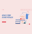 essential oil making landing page template woman vector image vector image