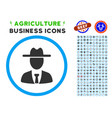 farmer boss rounded icon with set vector image vector image