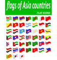flags of Asia countries flat icons vector image vector image