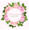 floral wedding invitations with pink and beige vector image vector image