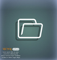 Folder icon symbol on the blue-green abstract vector image vector image