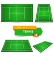 four tennis court template vector image vector image