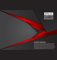 geometric abstract background red and black color vector image vector image