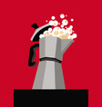 graphic drawing a geyser coffee maker vector image