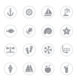 gray flat icon set 9 with circle frame vector image vector image