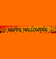 halloween orange banner vector image vector image