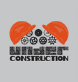 icon under construction helmet gear vector image vector image