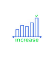 increase or growth like insight icon vector image