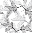 Leaves contours on a white background floral vector image