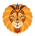 lion head logo decorative emblem vector image vector image